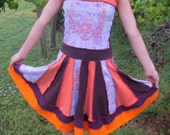 Custom upcycled tshirt dress for Tracy