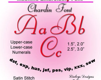 Download Machine Embroidery Alphabet Chardin Font