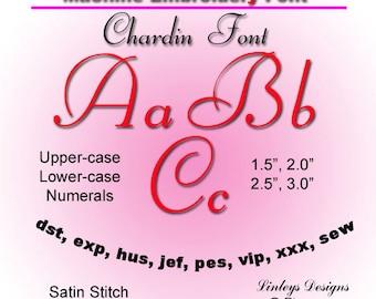 Download Machine Embroidery Alphabet Chardin Font