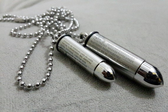 engraved matching bullets his and hers couples by