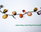Unique Mini sweets charm  & gemstones  bracelet - CuriousGigi