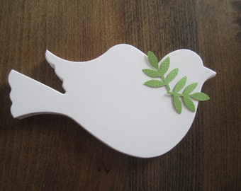 100 Die Cut Dove Paper Doves Bird Wedding Christmas Baptism Communion Confirmation Memorial Tree White Celebration of Life Funeral Service