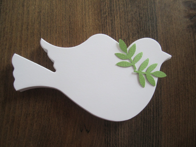 White dove christmas ornaments - 100 Die Cut Dove Paper Doves Bird Wedding Baptism Anniversary Christmas Ornament White Memorial Tree Doves