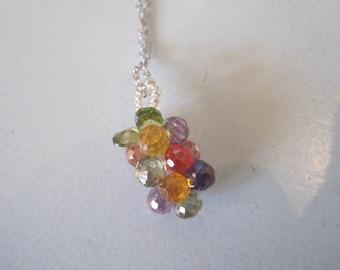Grape Necklace - Multicolor Grape Necklace -Grape Necklace -Grape - Grape Jewelry