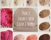 Custom Skin Tone Boob Hat for Breastfeeding 0-12 months