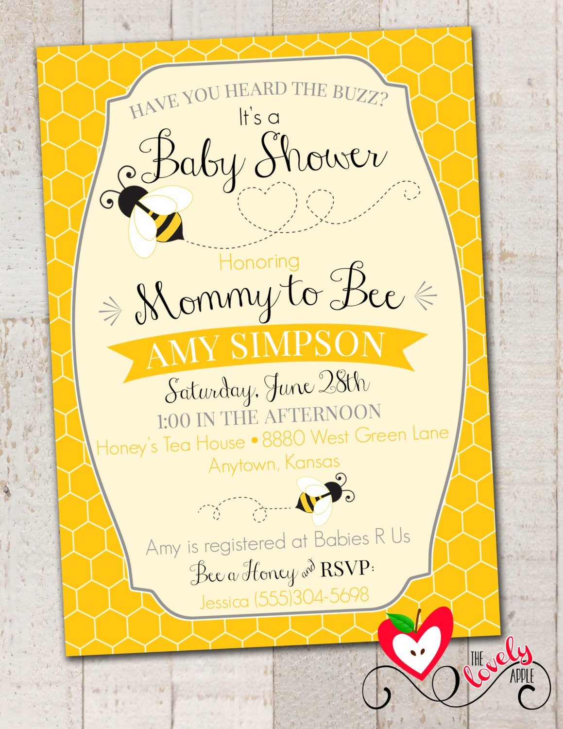 bumble bee baby shower invitation printable by thelovelyapple