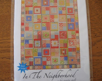 "SuzGuzDesigns In the Neighborhood Pattern for a 61 x 80"" Quilt"