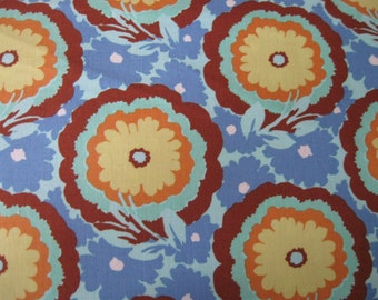 Soul Blossoms Buttercups Fabric in Cyan designed by Amy Butler for Free Spirit and Rowan Fabrics 1yard
