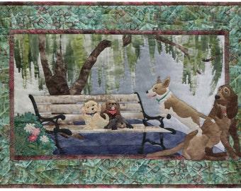 McKenna Ryan Quilt Pattern Dog Park #6 Bench Warmers Hound Yorkie DIY Quilting