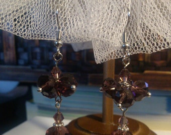 Purple Crystal Cluster Dangle