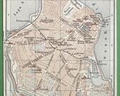 ITALY 1891 MAP - Town Plan of Mantova Mantua