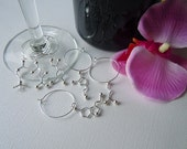Biolojewelry - Set of 6 Neurotransmittter Wine Glass Charms