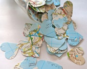 Around the World' Map Table Confetti 1000 Large Hearts