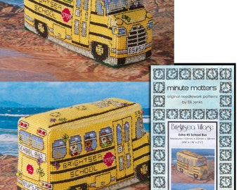 3D BrightSea Village Extra 5 School Bus Cross Stitch Pattern
