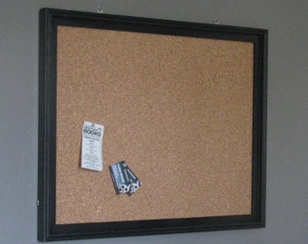 sale solid black wood frame cork board 22x 28 inner dimensions 2425 x 3025 outer dimensions pick your finish tack board pin board