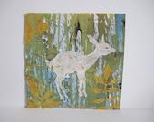 Original Deer Silhouette Collage