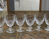 WATERFORD CRYSTAL 6 COLLEEN Pattern Short stem Water Goblets Wine Glasses 5 1/4""
