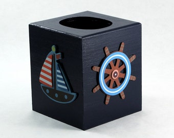 Nautical Theme Tissue Box Holder