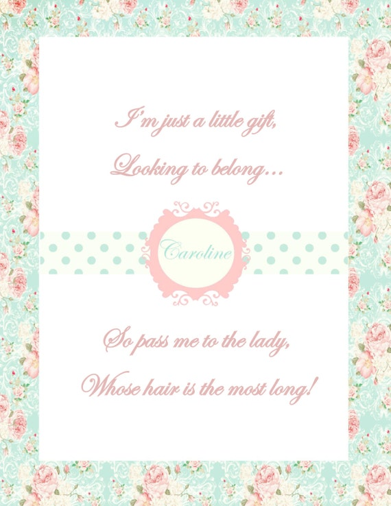 items similar to baby shower game pass the gift printable