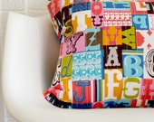 Modern Letterpress Quilted Pillow Cover