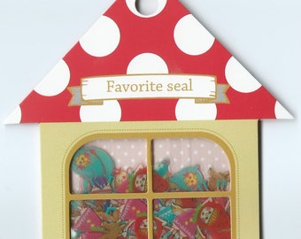 A Pack of 60pcs 10 Designs Favorite Seal Stickers- Alice in Wonderland and Red Ridinghood