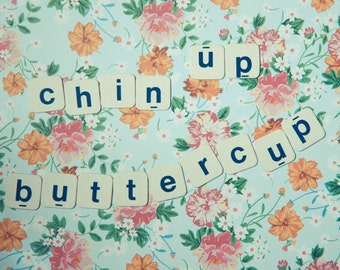 Chin Up Buttercup postcard