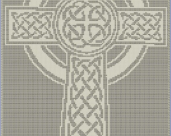 Celtic Cross Filet Crochet Pattern