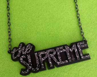 The Supreme necklace - laser cut acrylic