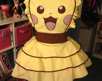 Vintage Pikachu Inspired Cosplay Dress/Apron