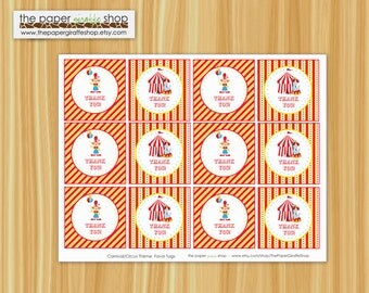 Carnival Theme Birthday Party Favor Tags | Carnival Party | Circus Party | Circus Birthday Party