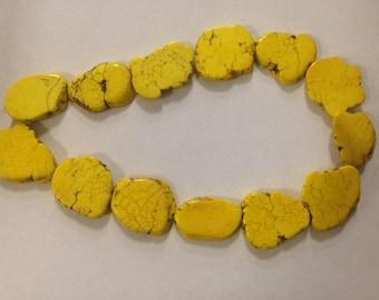 Magnesite Turquoise slab, yellow