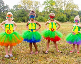 Teenage Mutant Ninja Turtle Inspired Halloween Birthday Tutu Dresses