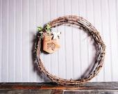 Vintage Barbed Wire Primitive Rustic Wreath