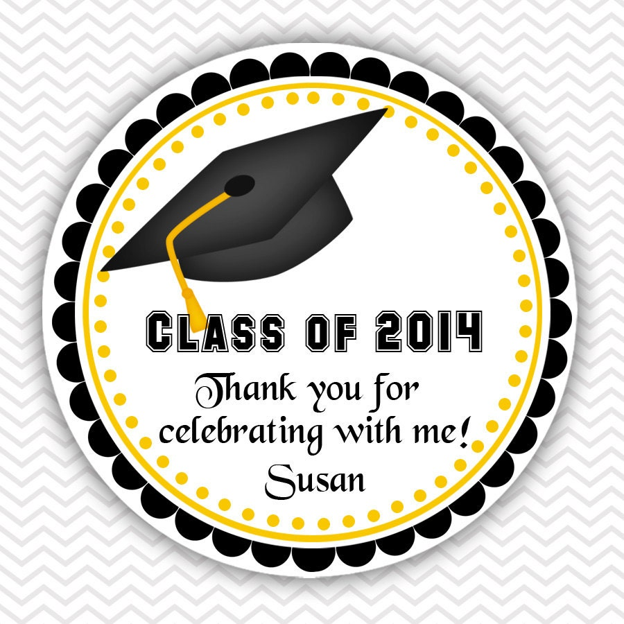 Graduation Cap Personalized Stickers Party Favor By