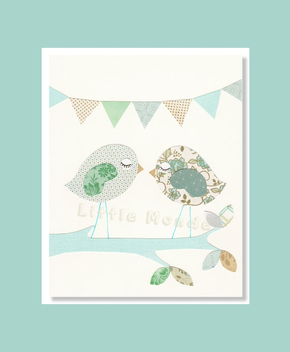 NURSERY ART PRINTS, Turquoise Nursery Art, Baby Girl Nursery Prints, Pastel Nursery Prints, Blue And Green Nursery