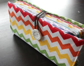 Multi Color Chevron Cash Envelope Wallet Dave Ramsey Budget