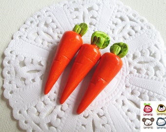 Miniature Ceramic Carrot, ceramic vegetables, carrot, fruit, food figurine, miniature food, mini vegetables, dollhouse, tiny, clay, iammie