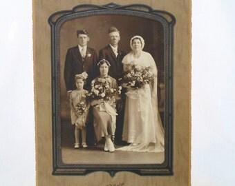 Photograph, Photo, Portrait, Wedding, Party, Man, Women, Family, Vintage, Antique, Melrose MN. Cabinet Photo, Black and White