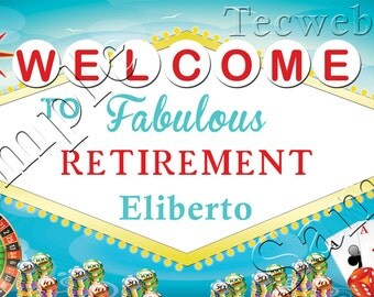 Retirement BANNER 2x4 Personalized vinyl w/ grommets,