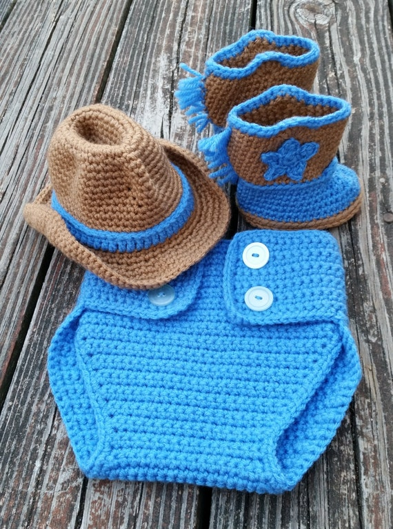 Free Crochet Patterns For Boot Covers : PATTERN instant download SET Diaper cover cowboy boot