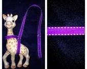 Sophie the Giraffe Leash Harness Purple