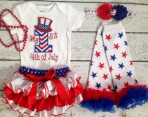First 4th of July/My 1st Fourth of July/Patriotic/American Cutie /Red White and Blue Ruffle Bloomer/First Birthday/CakeSmash/Pageant/Photopr