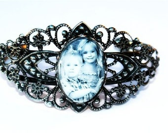 SALE 50% OFF Photo jewelry,Personalized photo bracelet, photo jewlery,Bangle photo bracelet,photo bracelet, bracelet, silver bracelet