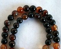 8 mm Natural Agate Semi Precious Gemstone Beads