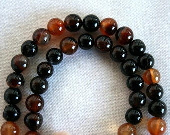 8 mm Natural Agate Semi Precious Gemstone Beads