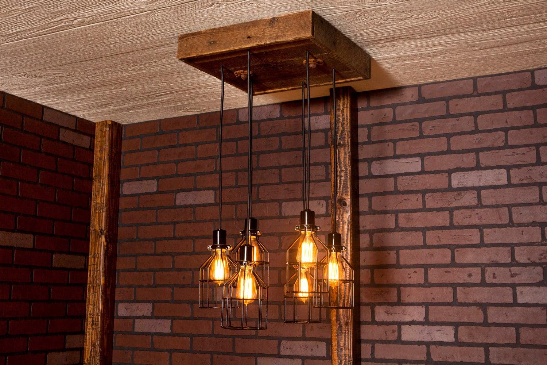 Industrial Lighting Industrial Chandelier Black With - Reclaimed Wood Lighting WB Designs