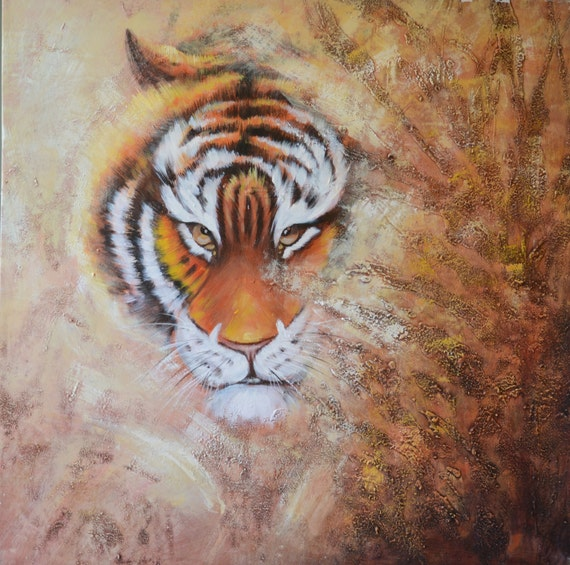 "Oil painting by hand made on canvas ,31.5""X31.5""  Ready to Hang, Inner Frame."