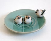 Reserved for Linda Vintage Birds Miniature Porcelain Set of Three Collectible Easter Birds