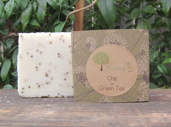 Chai + Green Tea Natural Vegan Handmade Organic Soap