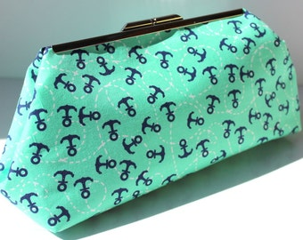 Mint Anchors Clutch